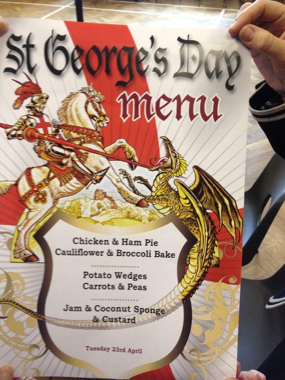 St. George's day menu