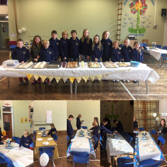 School council set up afternoon tea!