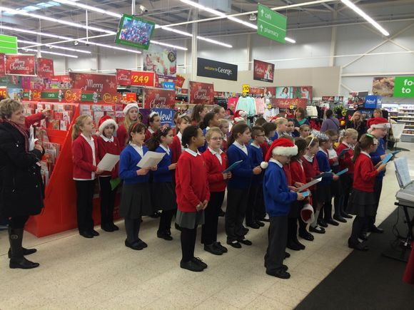 Christmas Catols at Asda 2014!