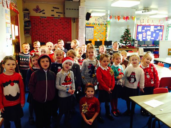 Christmas Jumper Day in Class 1.
