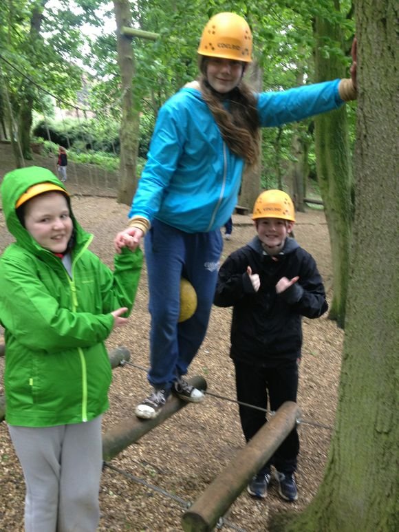 Low Ropes-teamwork required!