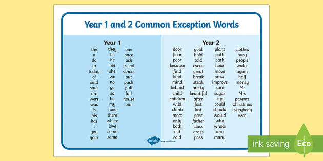 T-L-5089-Common-Exception-Words-Years-1-and-2-Word-Mat_ver_1