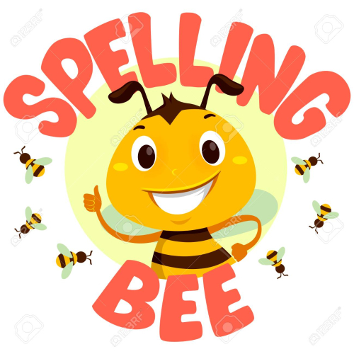 Bee-with-spelling-bee-word