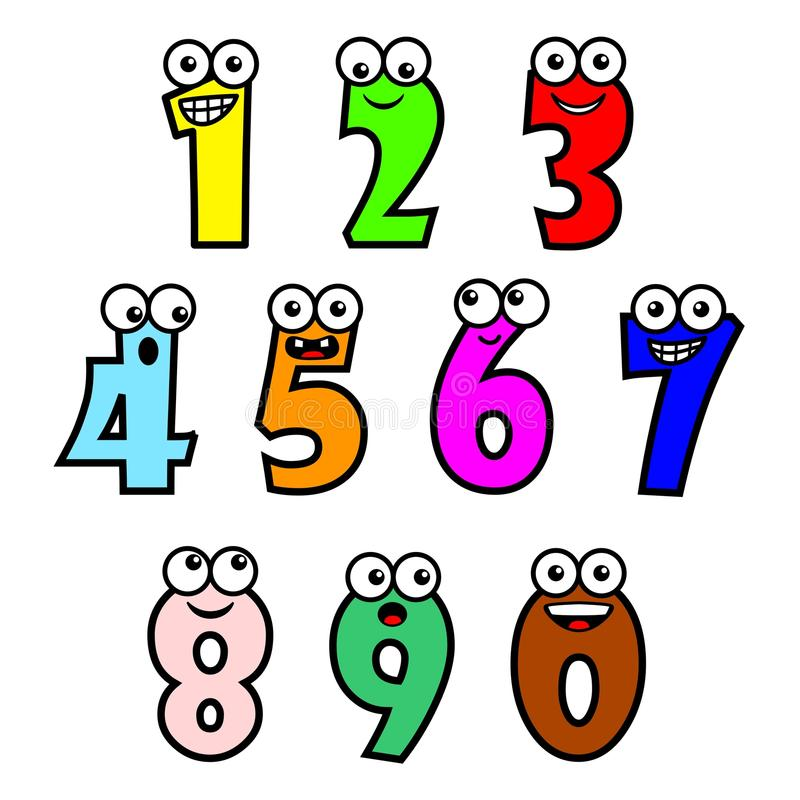 Cartoon-numbers-vector-illustration-funny-style-multicolor-number-characters-white-background-59551135