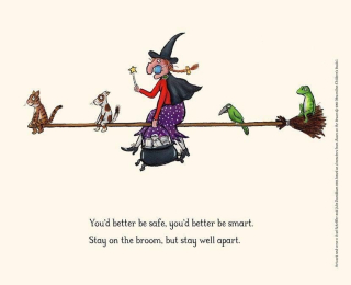 Witch socially distant
