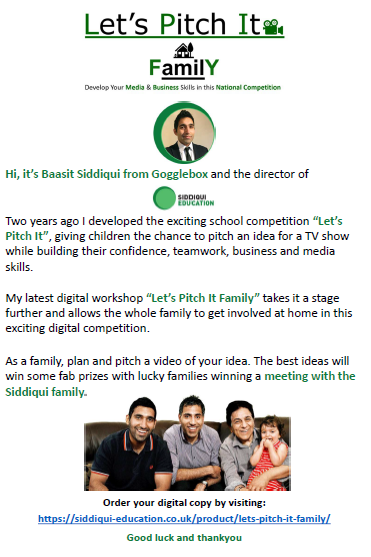 Pitch it Family flyer